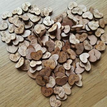Сердечки мини деревянные чипборды LOVE